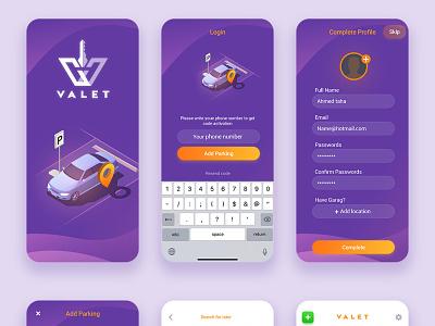 Parking App mobile app parking app app ux ui design