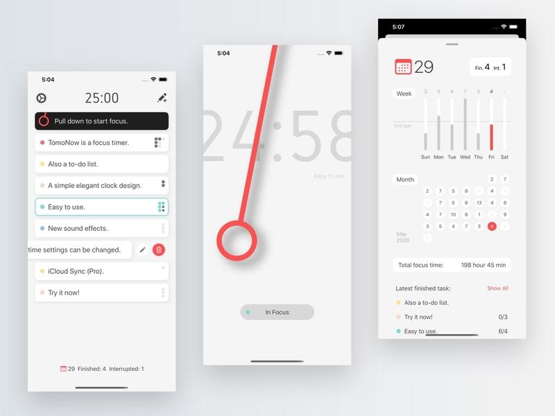 PomoNow 2 ux ui app design