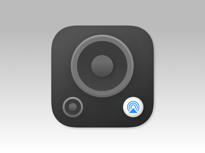 AirBass vector icon branding logo app design
