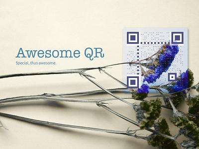 Awesome QR Github Banner logo design app branding
