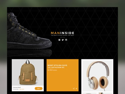 Freebie PSD: Clothing brand blog