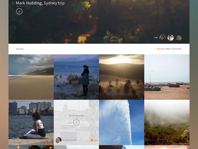 Freebie psd: Travel video book hero slide community platform wordpress album photo social freebie psd travel video