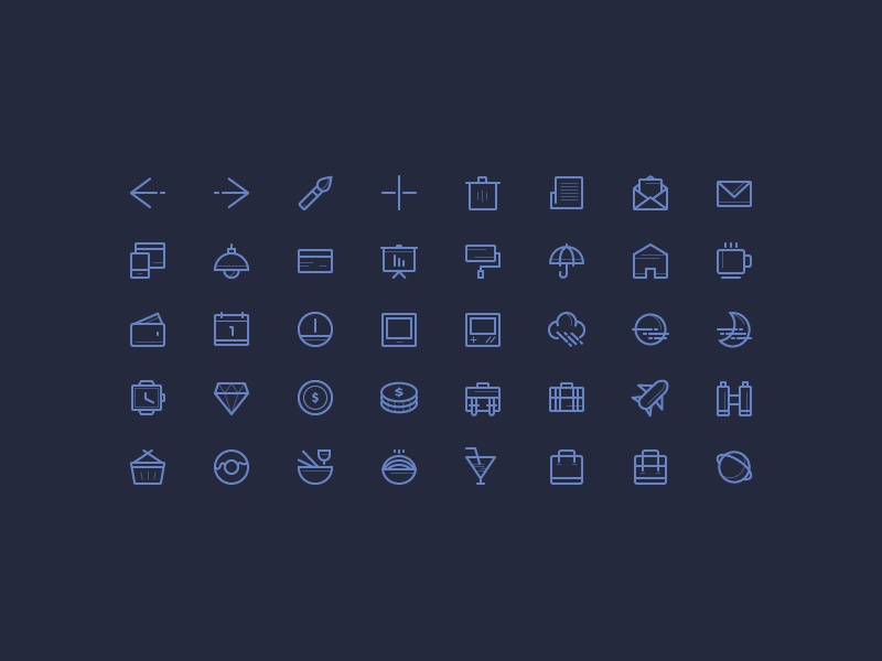Freebie: Icons set vol.2 freebie icons outline stroke