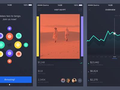 Social app cards graph analytics marketing application app influencers brands network social iphone ios