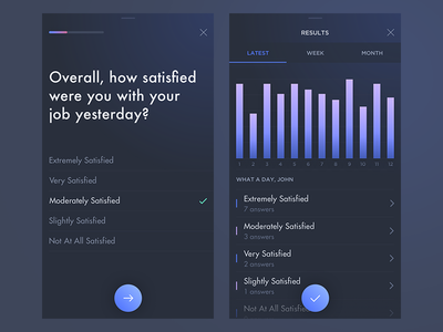 Daily Survey gradient results search dashboard dash survey iphone application app ios