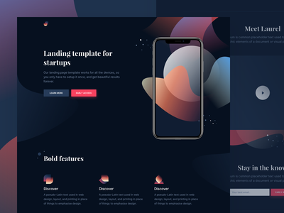Laurel - Free HTML landing page ui elements theme design template landing page html freebie free css