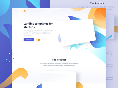 Switch - Free HTML landing page ui elements template theme design landing page html freebie free css