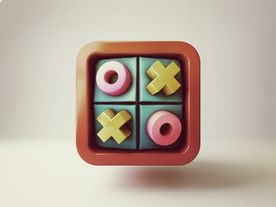 Tic Tac Toe icon icon iphone games 3d ios
