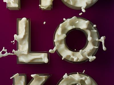 MOLOKO Ultraviolence Milk 3d lettering cinema
