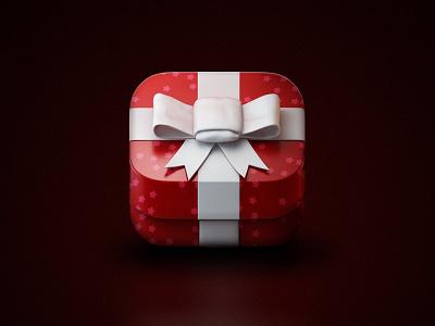 gift app ios icon cinema4d