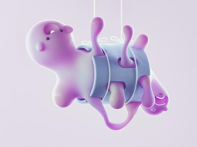 Pink characterdesign design cinema4d 3d