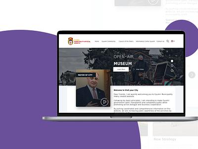 Redesign website GyumriCity.am website design photoshop redesign gyumri city gyumri armenia