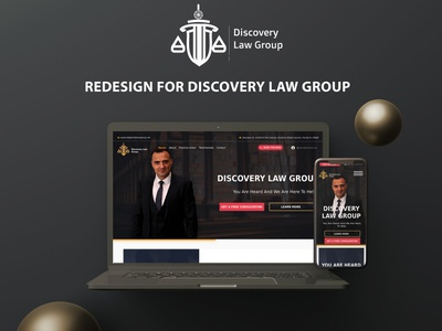Redesign - Discovery Law Group Website freelance lawyer website lawyer yellow black logo redesign website design figma website redesign concept redesign armenia