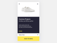 Clean Shopping App Design
