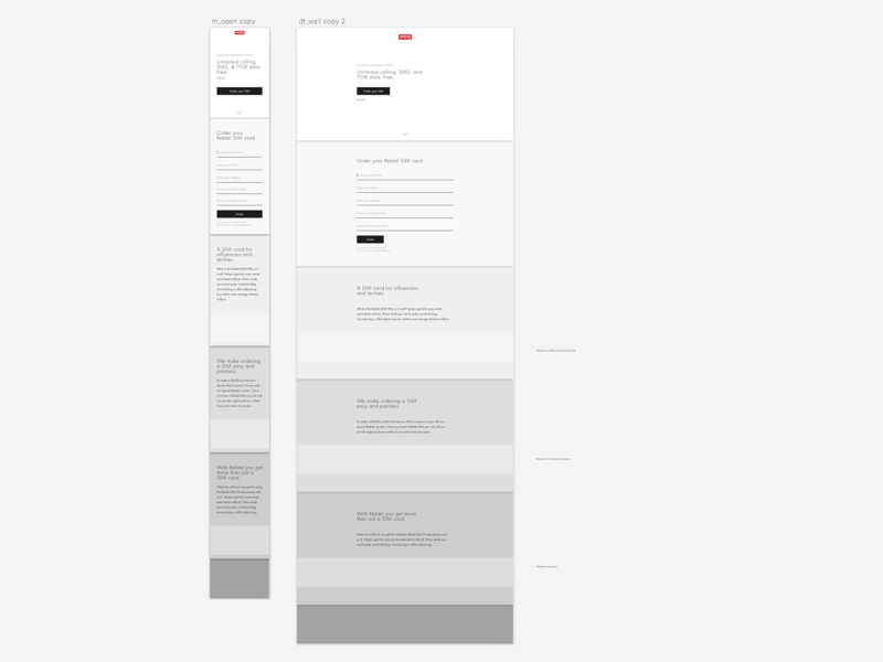 New day, new wireframes