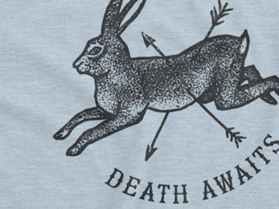 Threadless tattoo hare death t-shirt shirt