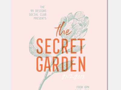 Poster party invite flyer graphic design handdrawn poster invitation