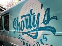 Logo for a doughnut truck