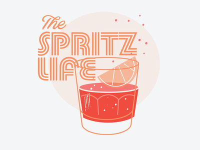 Spritz Life shirt illustration branding t-shirt logo design shirt beverage cocktails aperol