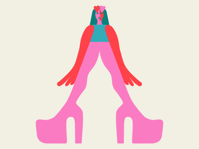 """A"" for @36daysoftype 💖 dariaf characterdesign branding shoesmagazine dress fashion ballpitmag itnicethat art 36daysoftype 36 days of type girl love heart heel shoes heels girls dashaf dasha f."