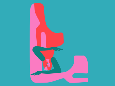"""""""L"""" is for Lady 💅🏻💕 36daysoftype itnicethat dashaf hands sport yoga fitness stop people woman girly hearts identity design onlineshopping artwork 36daysoftype07 36daysoftype shoes heels far-studio.es farstudio"""