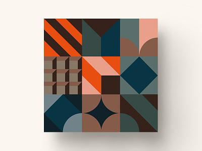 Illustration for the Financier сafe card dasha f. stripes cafe branding pattern chocalate cake coffe geometry birthday food