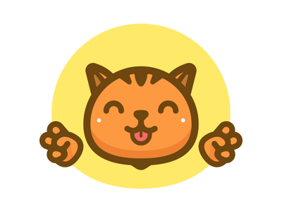 Peace Paws chillaxed illustration thicklines paws peace animal cat
