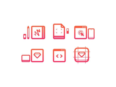 Service icons v.2 html design web design logotype brand ui print illustration icons services