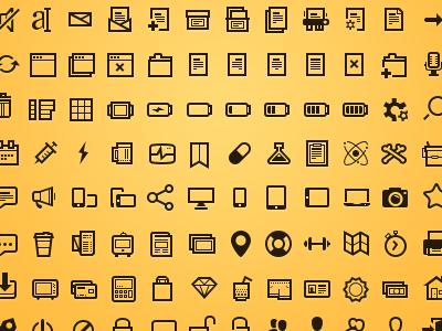 Steady set of icons icons icon steadysets orange brown freebie free