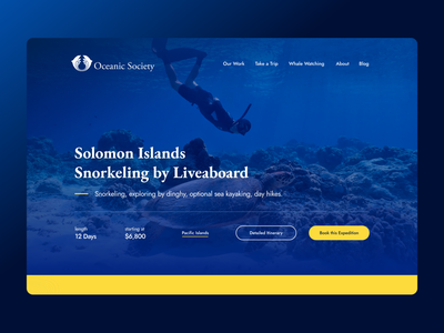 Oceanic Society ux ui website design