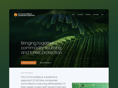 WWF Commodities & Jurisdictions Approach website ux ui design