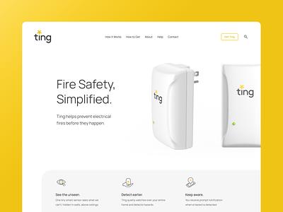 Ting website ux ui design