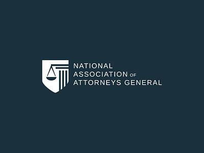 National Association of Attorneys General Logo branding logo design
