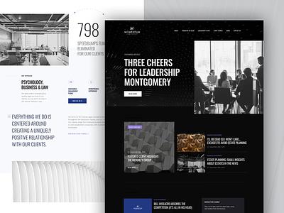 Momentum Law Group website ux ui design
