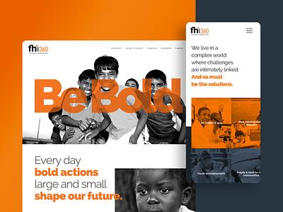 FHI 360 Annual Report website ux ui design