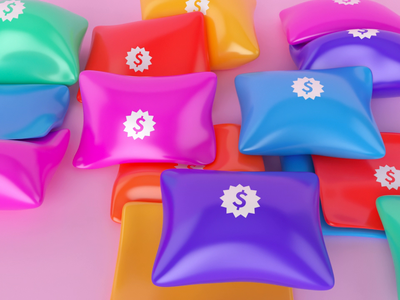 Pillows branding colorful ae blender redshift octane otoy motion design motiongraphics motion 4d cinema 3d cinema4d c4d loop animated animation pillow