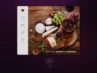Organic food widget