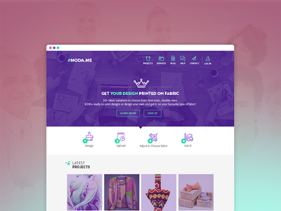 Crisp template to attract creative minds kit creative web design website ui psd metro modern flat clean template web