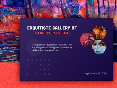 Invitation to Arts Gallery invite art brochure flyer print widget typography layout invitation