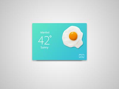 Extremely hot weather widget ios design flat creative funny app widget weather