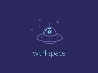 Workspace design flat logo