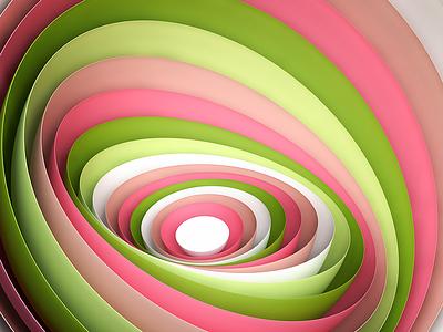 Procedural Layers cgi colorful creative minimalist abstract procedural vray maya c4d 3d