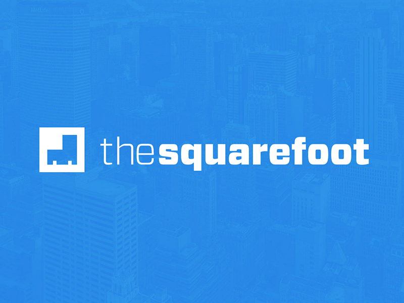 TheSquareFoot's New Logo thesquarefoot logo identity blue commercial real estate