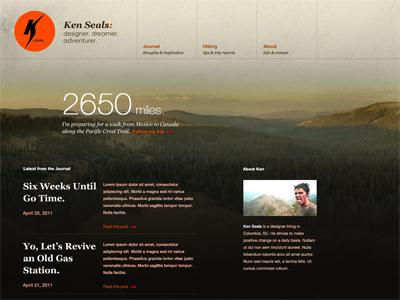 kennethseals.com kenseals.me ken seals homepage design process nature photography brown clean
