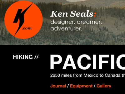 Hike detail - peek kenseals.me ken seals homepage design process nature hike hiking pct pacific crest trail detail