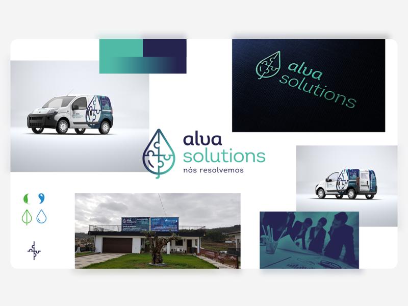 Alva Solutions - Moodboard logos puzzle logotype mini van van design logodesign identity logotipe monogram logo design green blue logo branding
