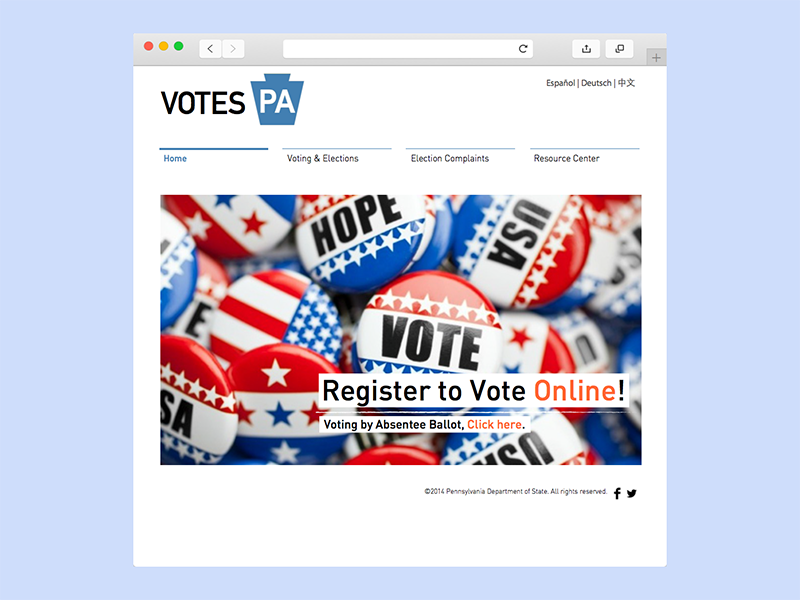 Online vote registration homepage by Frances Wang | Dribbble | Dribbble