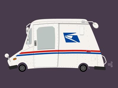 USPS Mail Truck usps letter postal postage transport vehicle truck mail