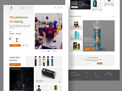 Landing page design Vape Store modern website ux landing page vaping liquid vape simple design clean ui