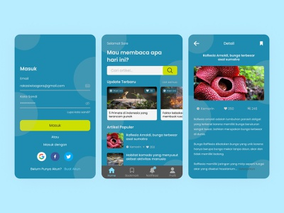 Article mobile apps apps android mobile article application ux simple modern design clean ui
